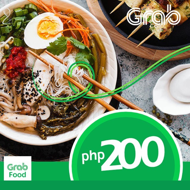 Grab Food P200 Discounted Voucher Code (Metro Manila Only)