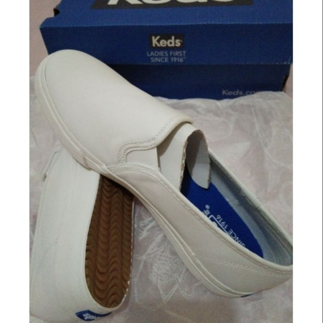 Original & brand new Keds shoes -Double Decker Leather (white) for Women size 7.5
