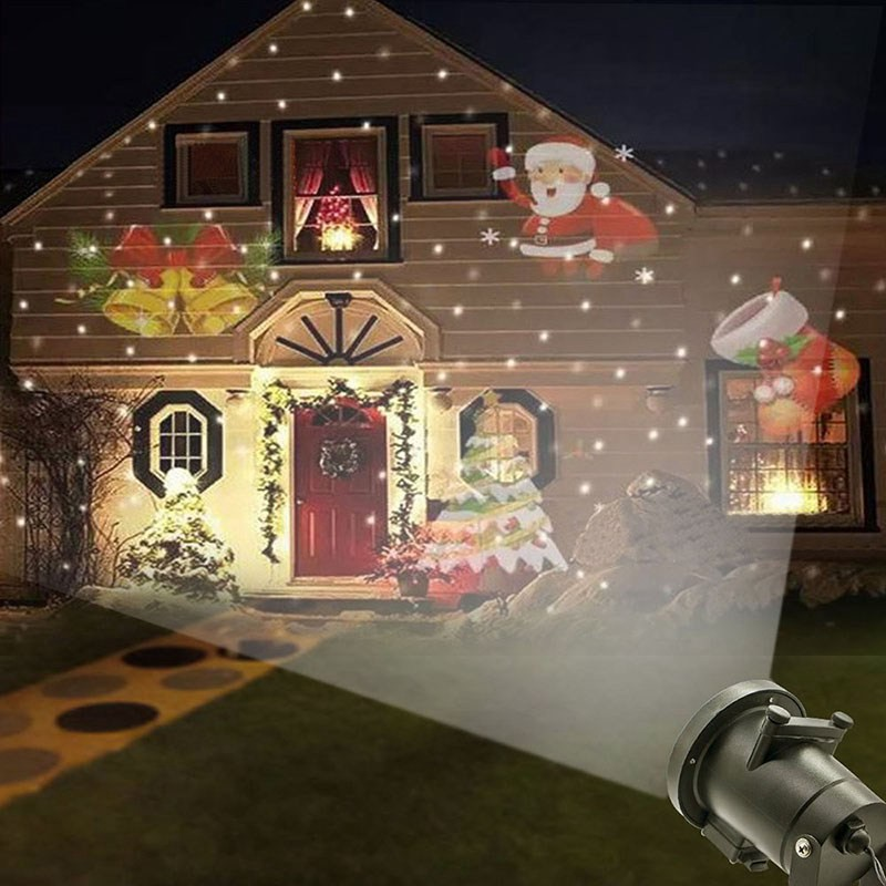 12 Types Xmas Laser Snowflake Projector Christmas Decor Led Lamps Waterproof Dj Disco Light Shopee Philippines