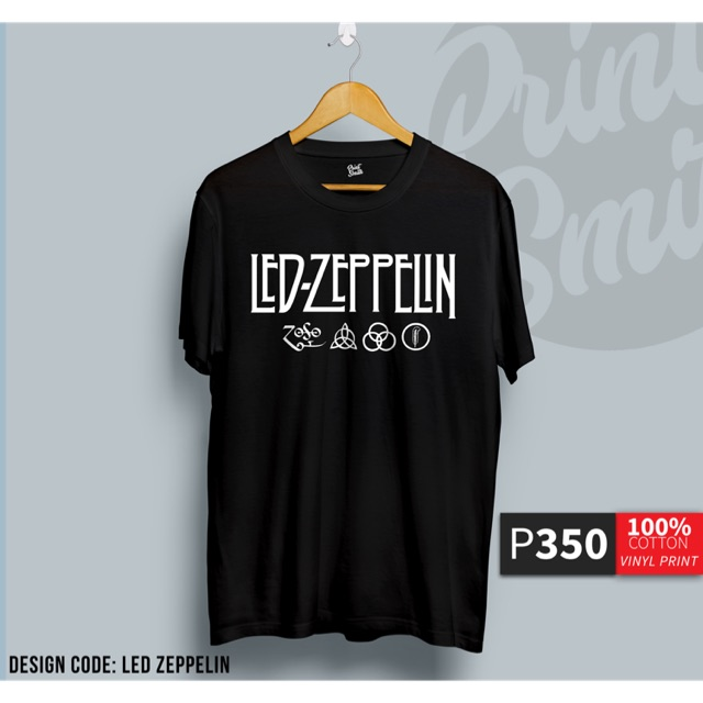 ac57a16cb630 Rock Band Led Zeppelin Black Shirts COD | Shopee Philippines