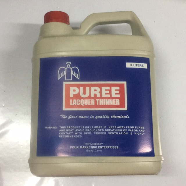 Lacquer Thinner 3 Liters Puree Brand