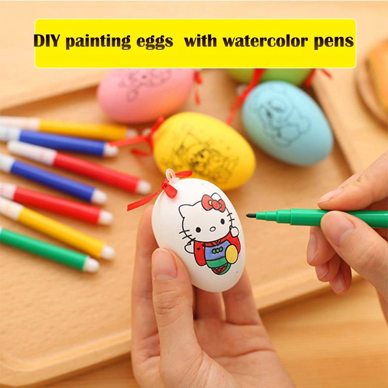 Diy Painting Egg Easter Eggs Toys For Kids With Pattern Colorful Egg Send Randomly Shopee Philippines