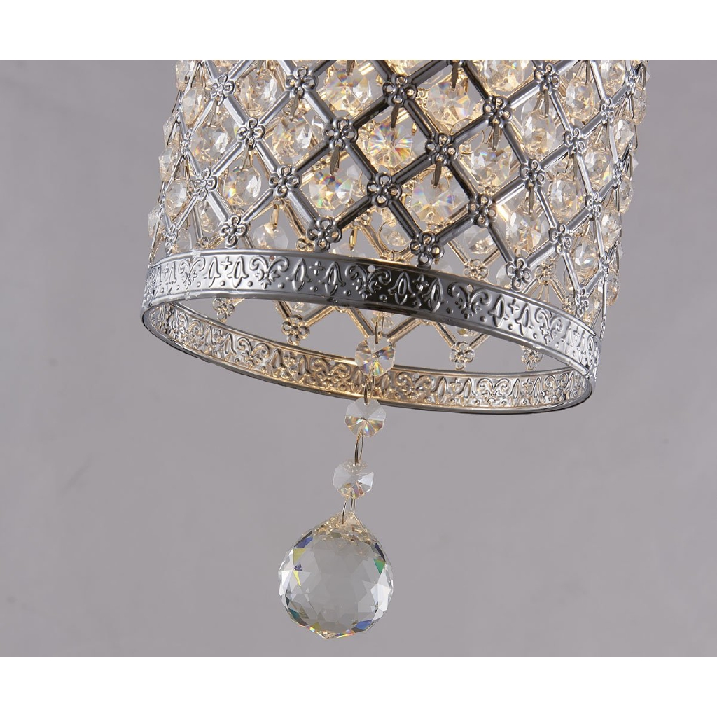 Simple Crystal Pendant Creative Bedside Bedroom Lighting Plug Chandelier Shopee Philippines