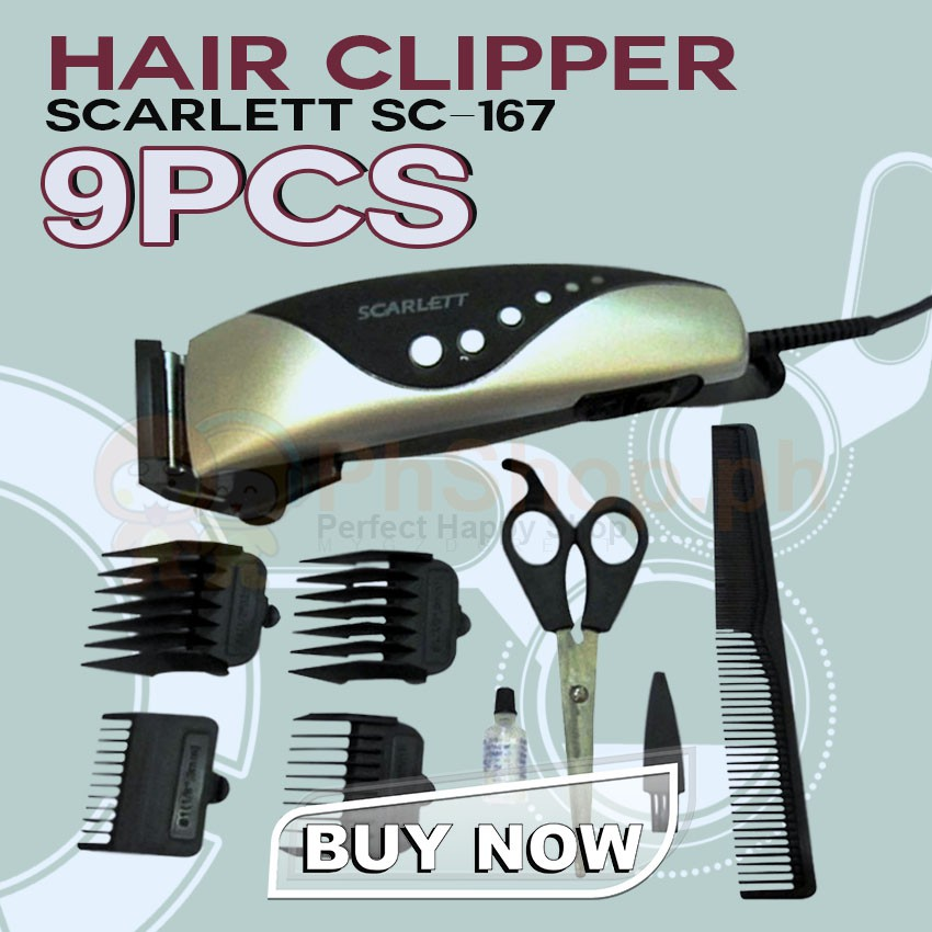 Anim Scarlett SC-167 Hair Clipper 9-piece Set 24841  e7eb634e4fc