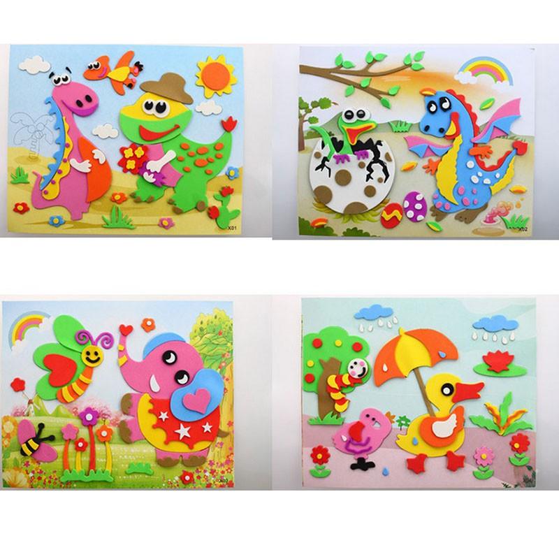 Animal foam Foam Stickers x 20