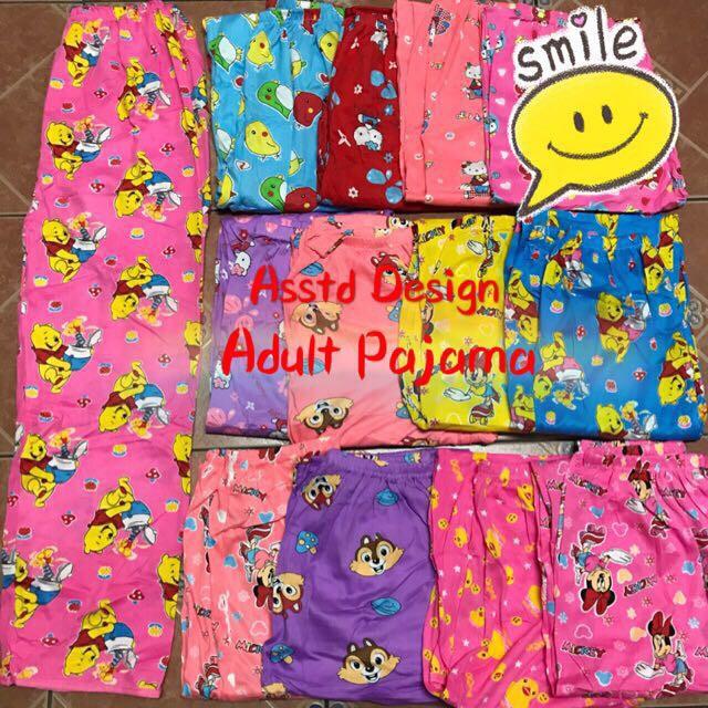 Pajama Pants Adult/Freesize/Cotton Spandex/Cartoon