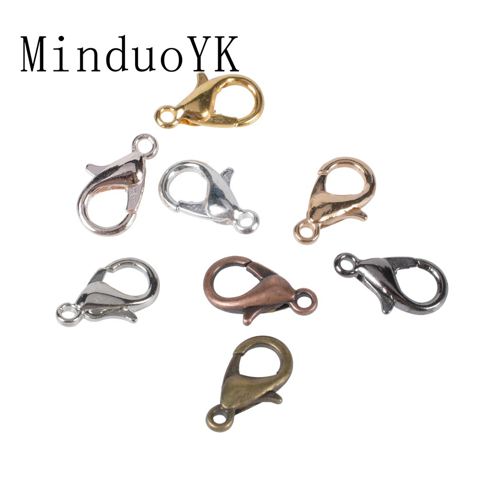 Gold Alloy Lobster Clasp Hooks For DIY Jewelry Bracelet Chain Accessory Supplies
