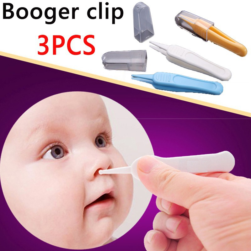 1pc Plastic Tweezers Forceps Clamp Tool Safe Care Pink Led Nose Clean Clip Anti-slip Ear Navel Beauty & Health Face Skin Care Tools