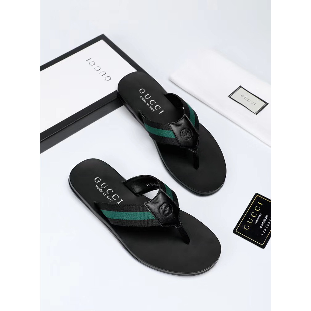 03291fed3 ProductImage. ProductImage. Gucci trend Slippers Mens Fashion Leisure cozy flip  flops