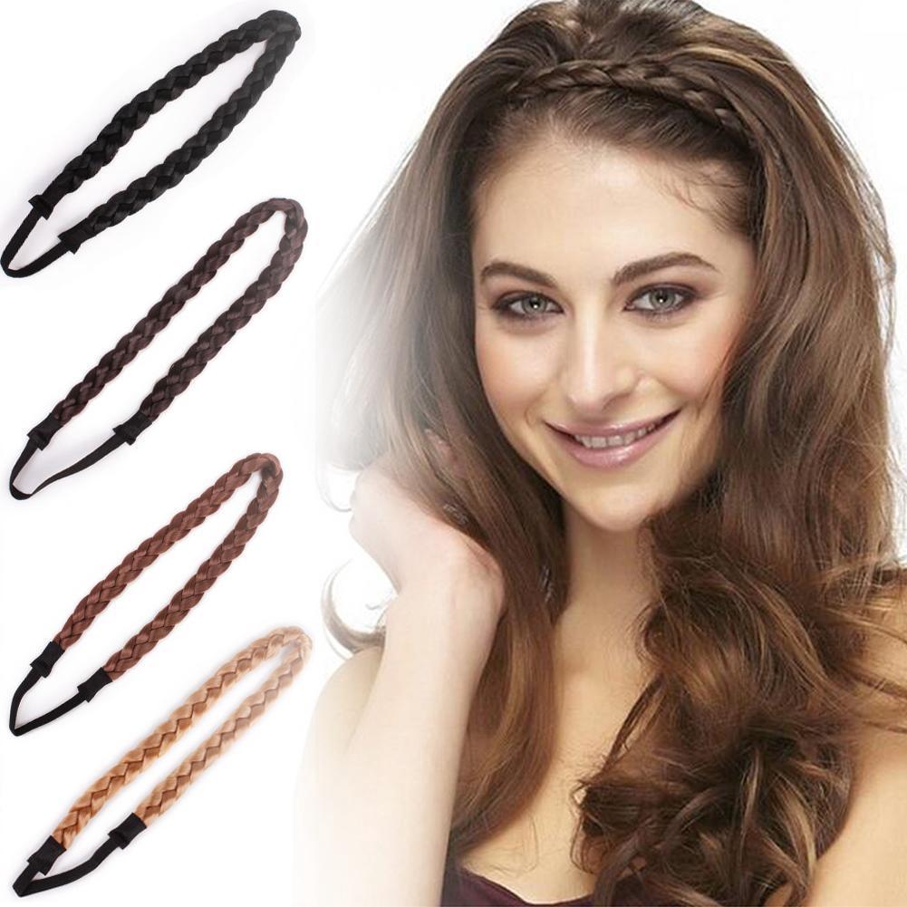 Elastic Twist Braided Hair Headband Wig Fishtail Bohemian Easy-Wear Hairbands