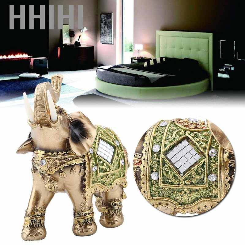 Hhihi Lucky Feng Shui Elephant Statue Sculpture Wealth Figurine Gift Home Decor Au Shopee Philippines
