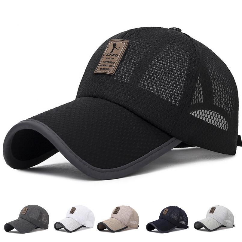 Outdoor Sport Running Bike Baseball Mesh Hat Men Quick-drying Summer Visor Cap