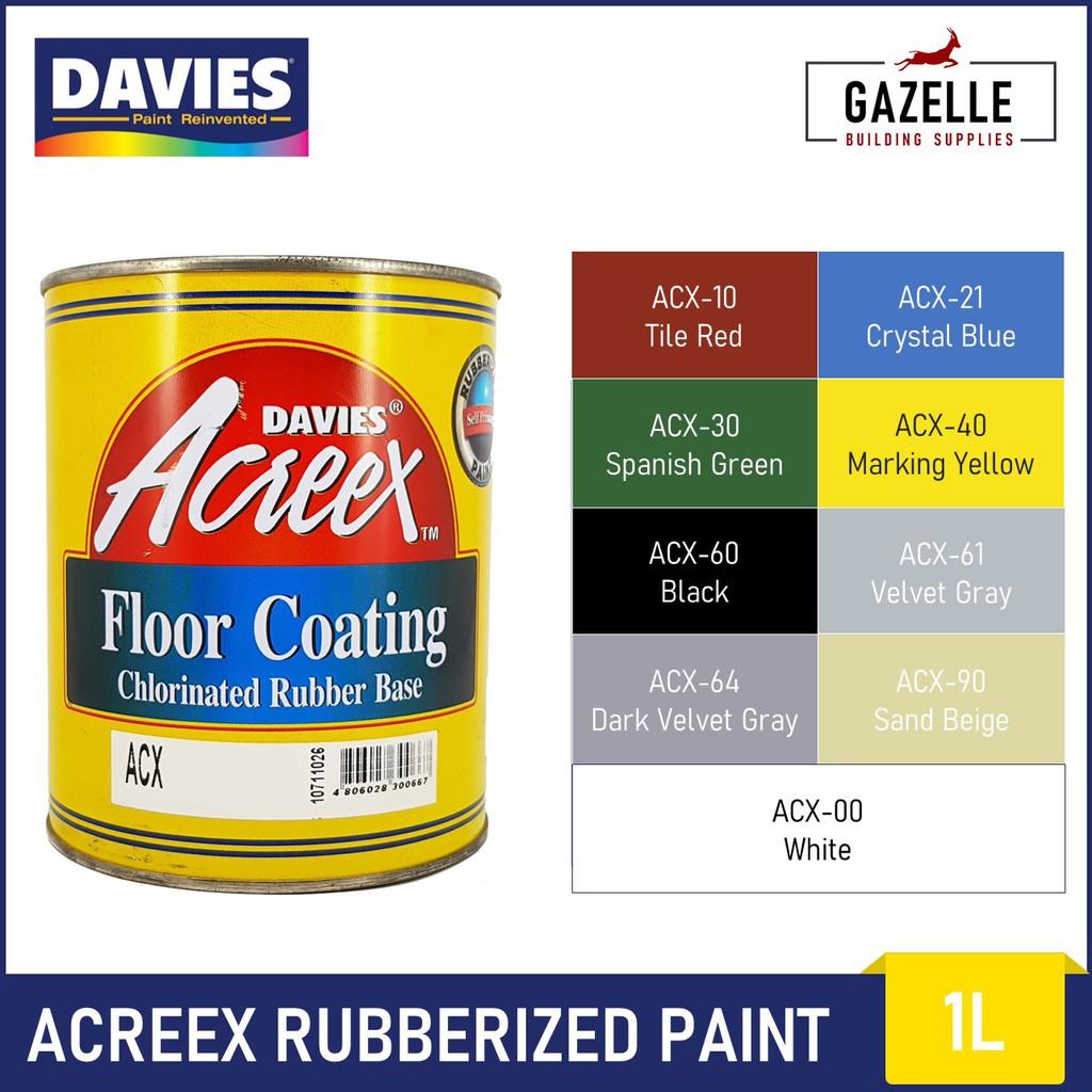 Davies Acreex Rubberized Floor Paint 1l Shopee Philippines