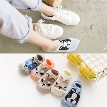 VankyC Cute Doggy Antiskid Socks Invisible Socks