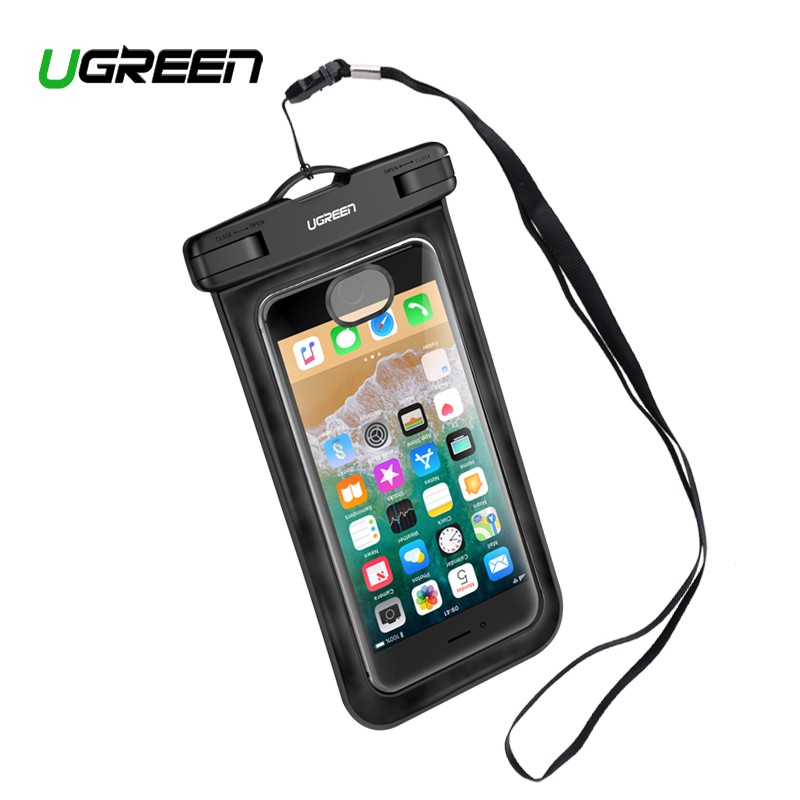 timeless design 744a8 82d84 UGREEN Waterproof Phone Pouch Case for iPhone X 8 Huawei P20