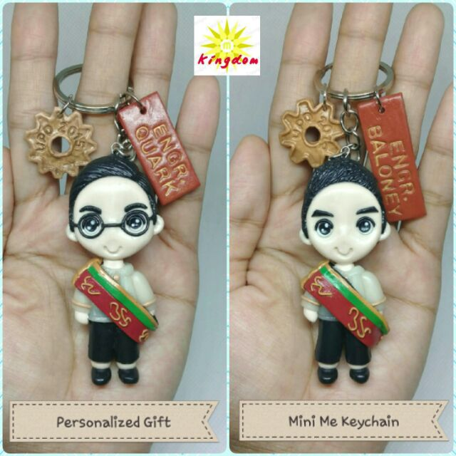Personalized Gift Mini Me Keychain Chibified Couple