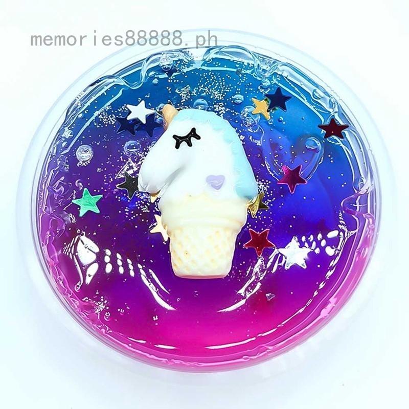 Memories Diy Slime Mud Clear Galaxy Slime Unicorn Modeling Clay