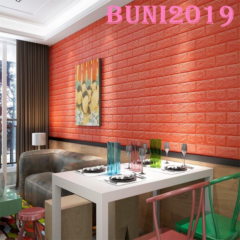 ✿Buni✿ \n\nSelf-adhesive TV Background Wall brick Wallpaper 3D Wall Bedroom  Stickers 60x30