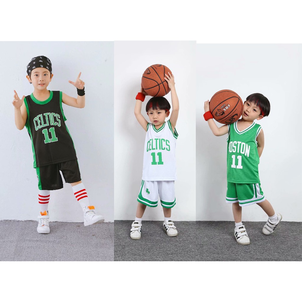 the latest 0de60 1f623 NBA Boston Celtics No.11 Kyrie Irving Kids Basketball Jersey