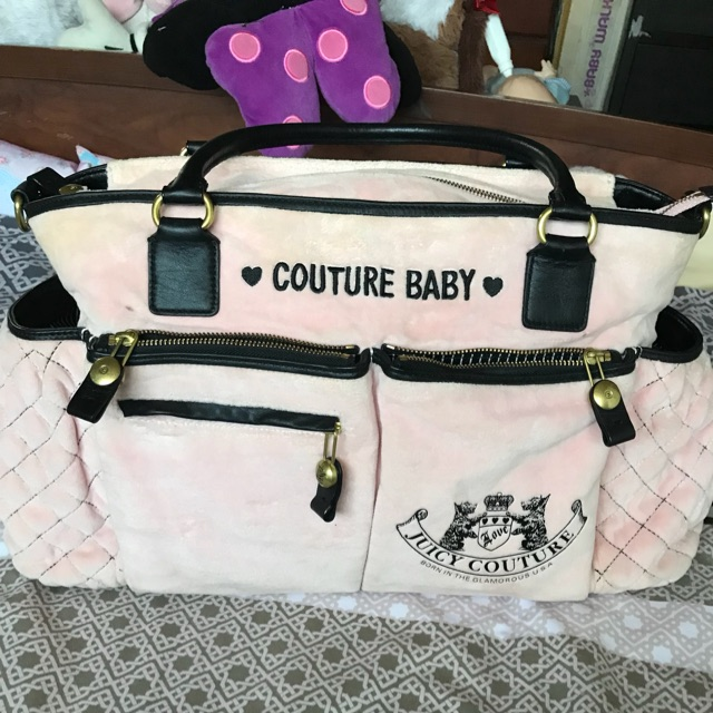 Color Pink Juicy Couture Diaper Bag