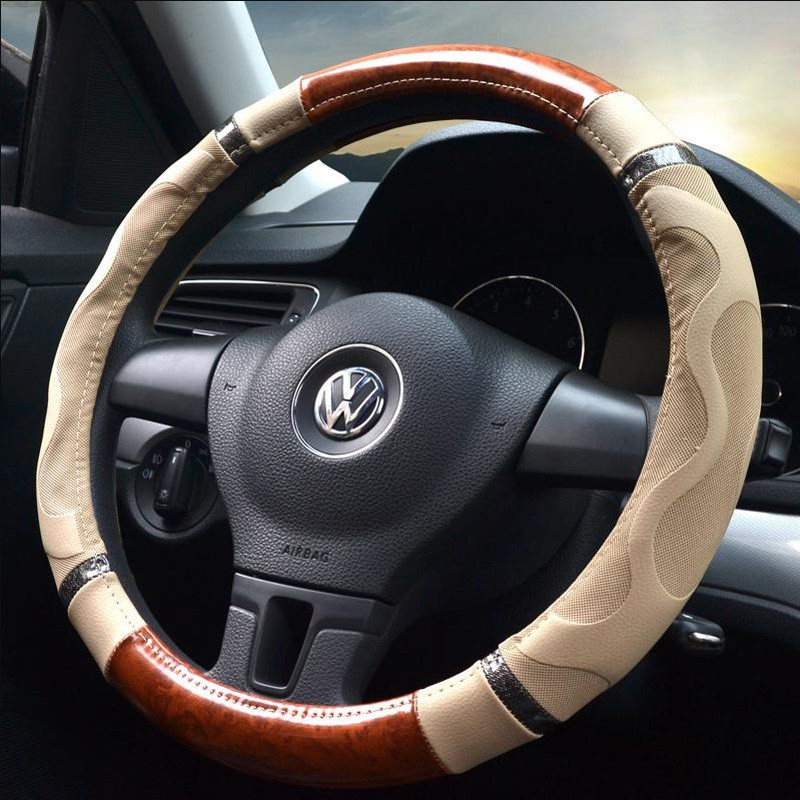 14/'/' Cover Gray Car Steering Wheel Cover Auto Microfiber leather F Summer 36cm