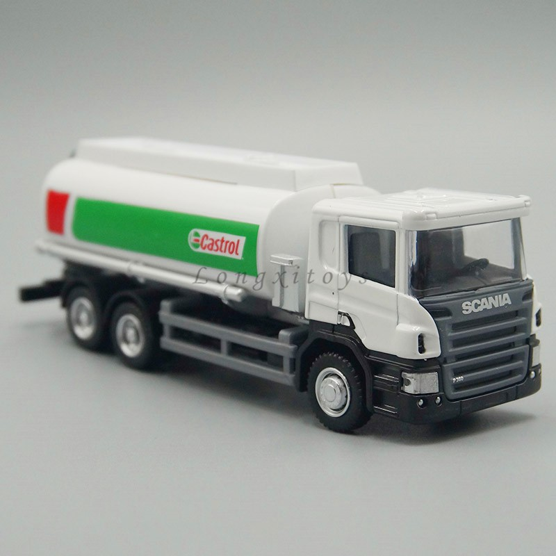 1:64 Diecast Metal Scania P-Series Tank Truck Vehicle Model Tanker Replica