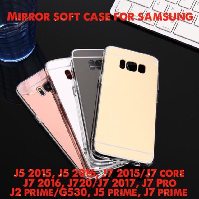 Mirror Soft Case Samsung J2 J5 J7 2015 2016 2017 Prime Pro