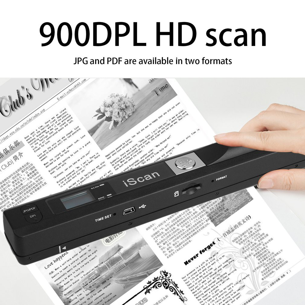 Besthandheld Mobile Document Scanner Pen Style Lcd Display