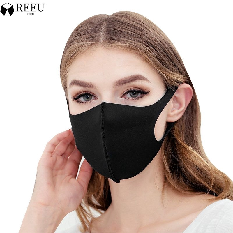 【REEU】【In stock】 Dustproof Breathe Reusable Washable Mouth Mask Simple Stylish Design Face Mask