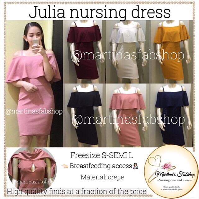 af0f5e393c221 Red Overlap Formal Nursing Breastfeeding Wear Dress | Shopee Philippines