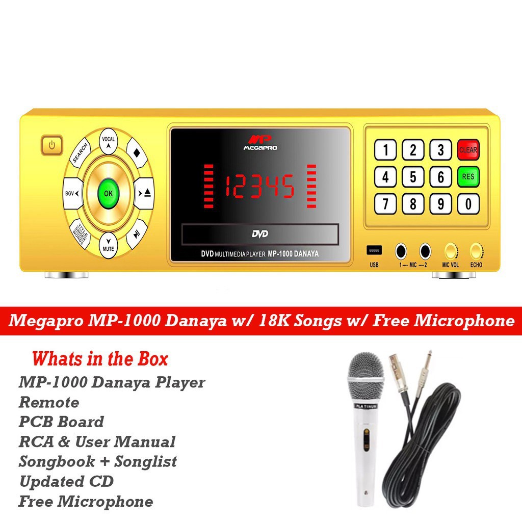 MP MEGAPRO MP-1000 DANAYA WITH FREE MIC