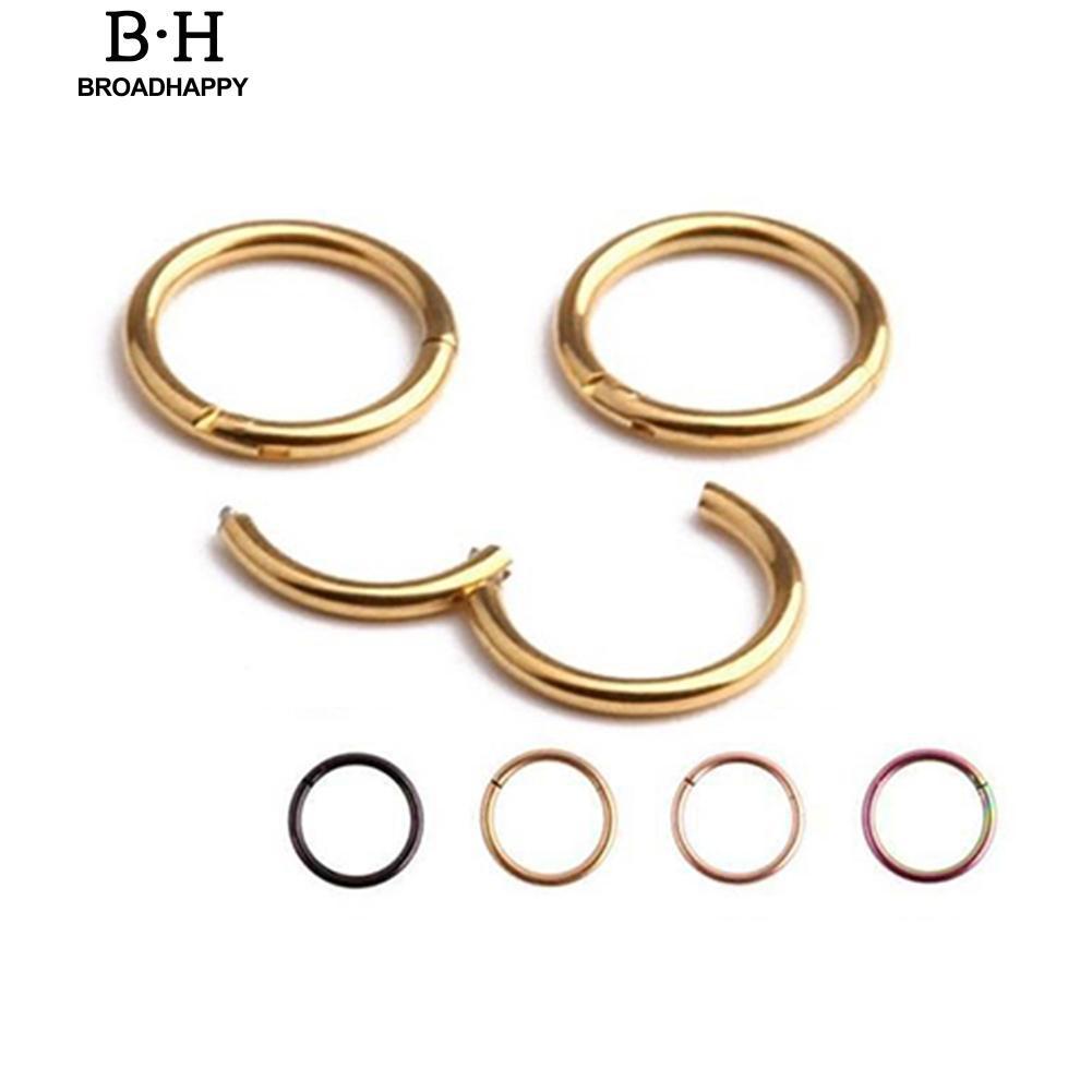 16g 14g Hinged Segment Hoop Ring Stainless Steel Lip Nose Septum