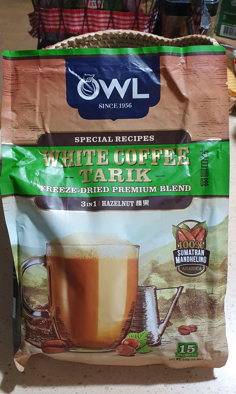 OWL WHITE COFFEE TARIK 3IN1 HAZELNUT | Shopee Philippines