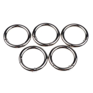 10 PCS Spring O Rings Spring Gate O Ring Round Carabiner Snap Clip Keyring Spring Snap Loaded Clips Trigger Spring Keyring Buckle Locking Carabiner Hook with 1 Storage Box for Purses Keychain Bag
