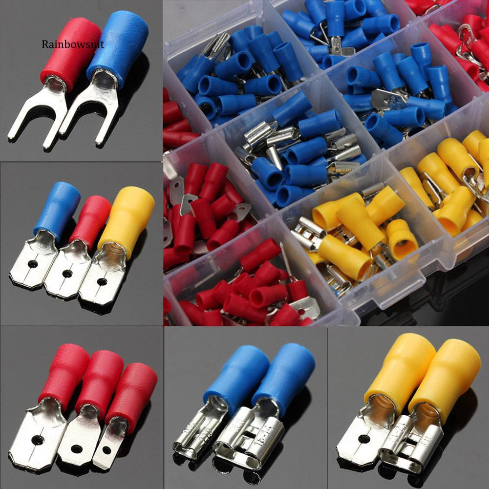 NEW BLUE male BULLET nose electrical wire terminal insulated crimps x 12
