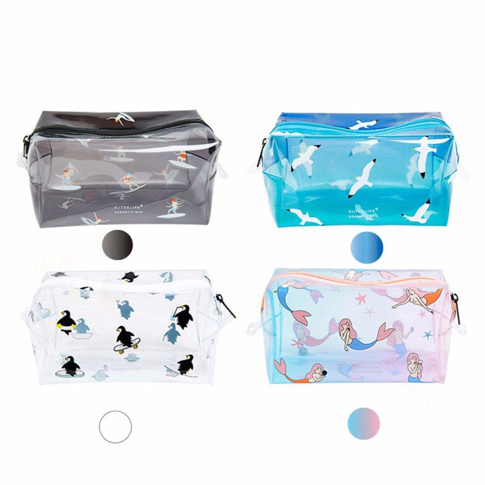bestmother Transparent Cosmetic Travel Bag Women Makeup Organizer PVC  Washing Bags Pouch  1b0fa7cc5acf
