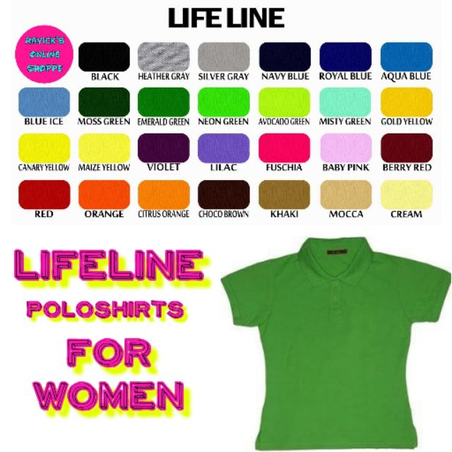 Lifeline Poloshirts For Women Colored