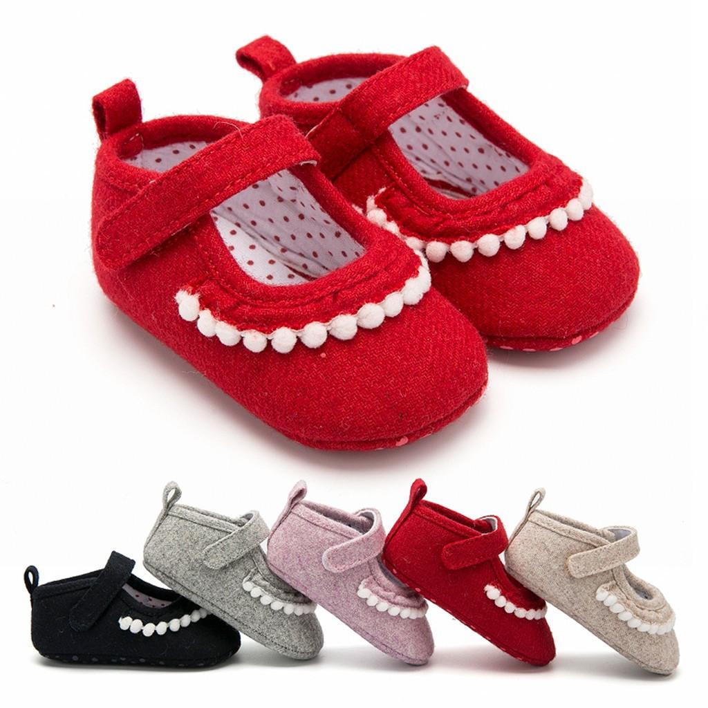 Toddler Baby Boy Girl Soft Sole Crib Shoes Newborn Sneakers Anti-slip Prewalkers