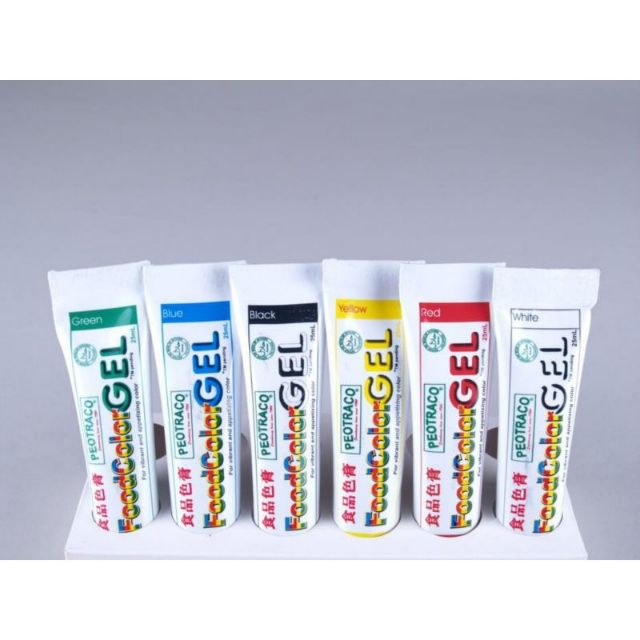 6 colors Peotraco Food Color Gel 25ml Set Wholesale