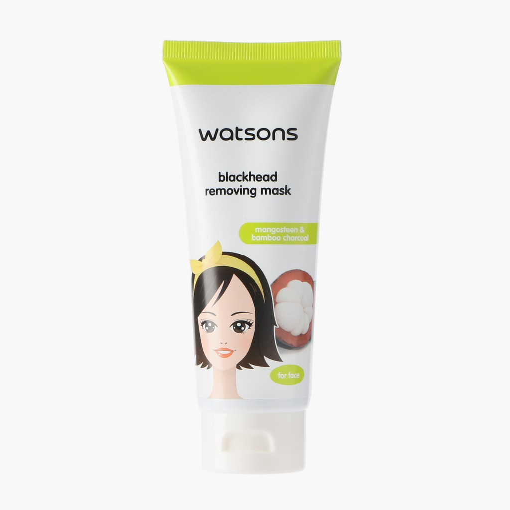 Watsons Mangosteen And Charcoal Blackhead Removing Mask 80g Shopee Bioaqua Activated Carbon Black Philippines