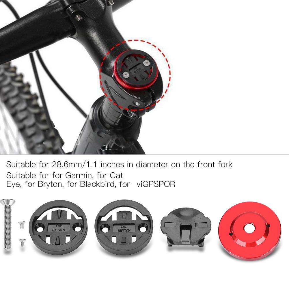 Dilwe Bicycle Headset Top Anodized Headset Top Stem Cap Computer Stopwatch Mount Holder for Bike Accessory