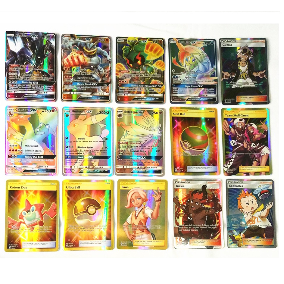 Pokemon Card Holo Flash Trading GX Cards Mixed LOT