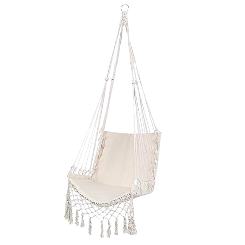 Nordic Style Hammock Safety Hanging Hammock Chair Swing Rope Outdoor Indoor Hanging Chair Garden Seat For Child Adult Shopee Philippines