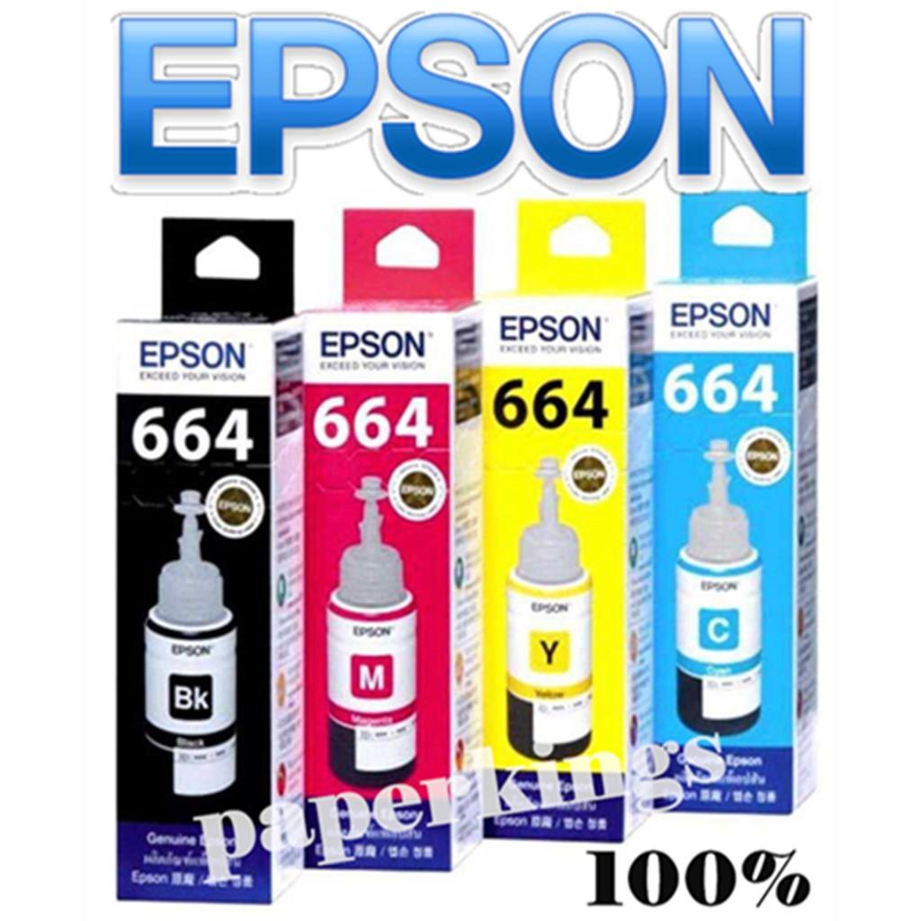 Epson T664 Ink Bottle 70ml Genuine Original for L series 664 epson ink