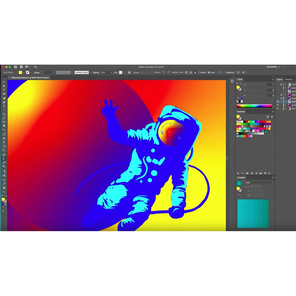 Adobe Illustrator CC 2019 64bit License Lifetime for Windows
