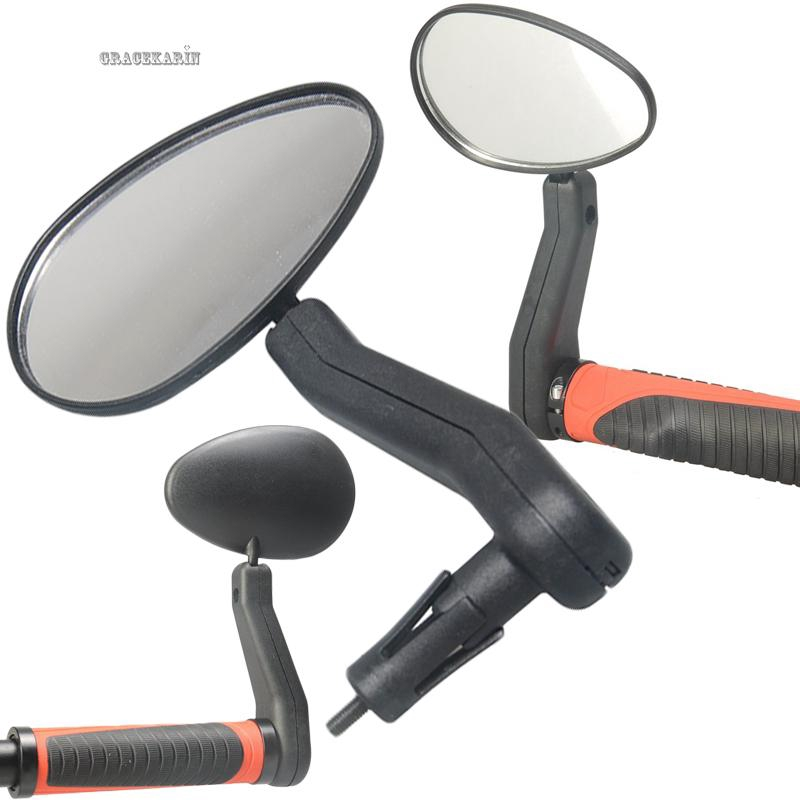 Black Adjustable Bicycle Rearview Mirror Mountain Bike Rearview Handlebar Tail F