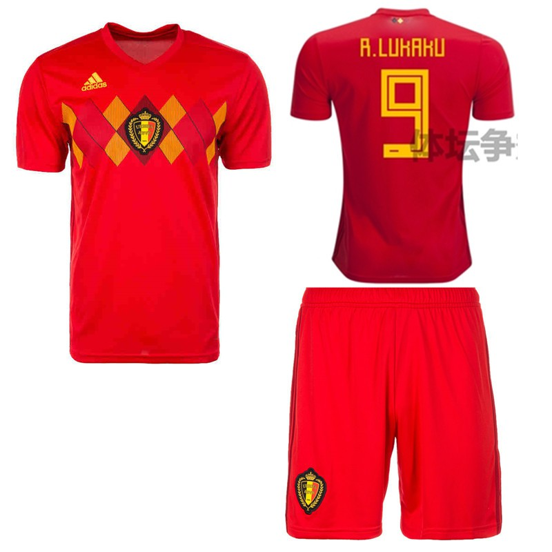 fbb3b41a05e 2018 World Cup Boys Belgium National Team NO.9 R.Lukaku Home kit away kit  Kids Football Jersey | Shopee Philippines