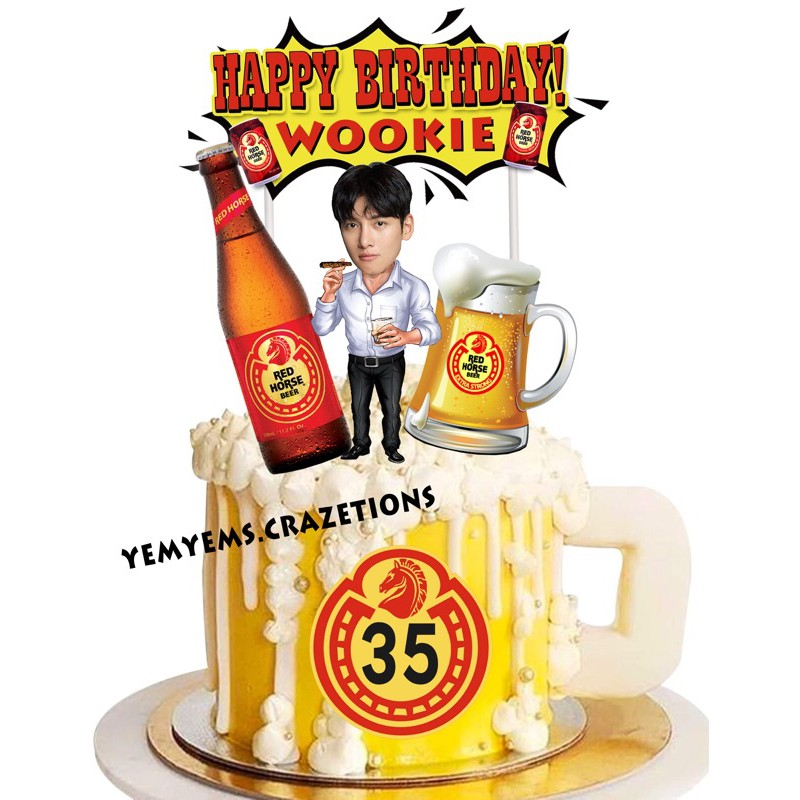 Red Horse Cake Toppers 1 Shopee Philippines