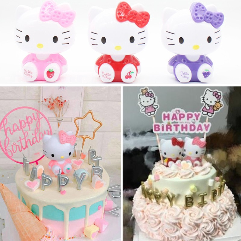 Awe Inspiring Hello Kitty Birthday Cupcake Toppers Cake Toys For Girls Children Personalised Birthday Cards Paralily Jamesorg