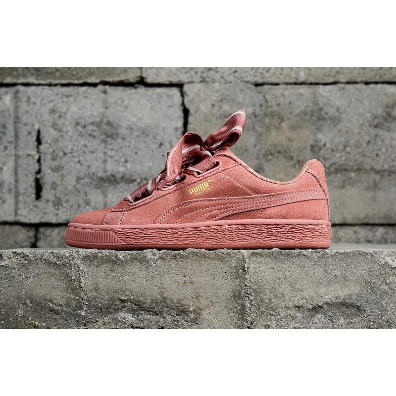 Puma Suede Heart Satin II Women Shoes Pink 364084 03